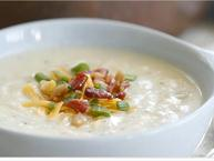 Winter Creme Fraiche Baked Potato Soup