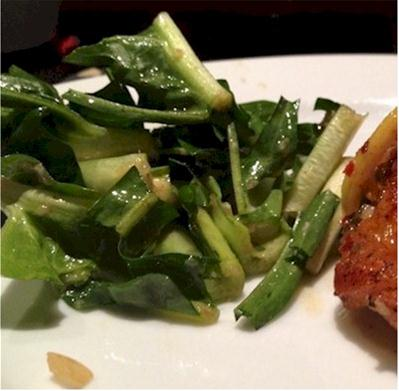 puntarelle with anchovy dressing