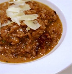 red wine risotto with parmigiano