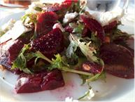 Roasted Beet Feta Pine Nut Salad