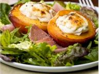 roasted peach nectarine salad