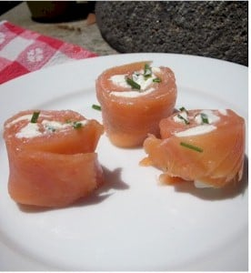 Salmon Cream Cheese Roll Ups