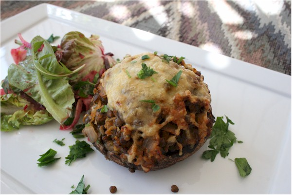 stuffed portobellini mushrooms