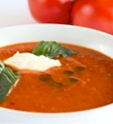 Image of Chilled Tomato, Watermelon, And Basil Soup, Gourmet Sleuth