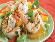 Tropical Shrimp Salad with Lime-Cilantro Dressing