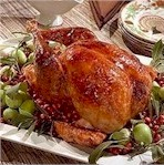 roasted turkey on a platter