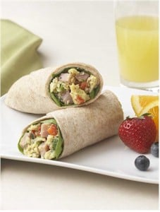 vegetable cheese breakfast rollups