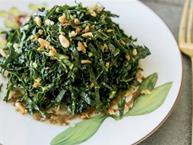 Kale Salad With Pine nuts & Date Puree