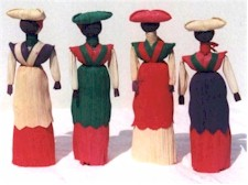 corn husk dolls from botswana
