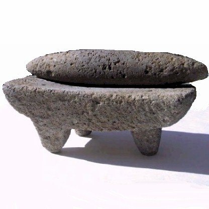 aztec metate y mano