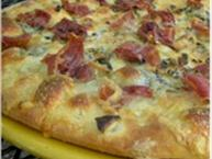 Prosciutto Gorgonzola and Garlic Pizza