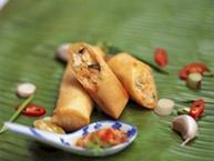 Boursin and Vegetable Spring Rolls