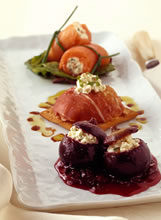 Image of Boursin Cheese Trilogy (salmon Canelone, Prosciutto Ravioli And Baked Stuffed Figs), Gourmet Sleuth