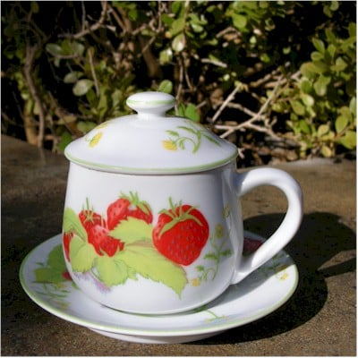 mann strawberry pot de creme cup
